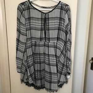 Free people open back blouse